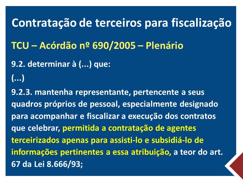 Contratação de terceiros para fiscalização