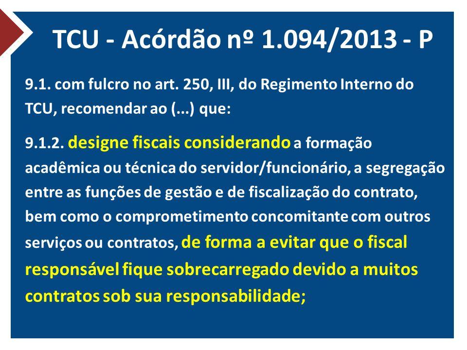 TCU - Acórdão nº 1.094/2013 - P