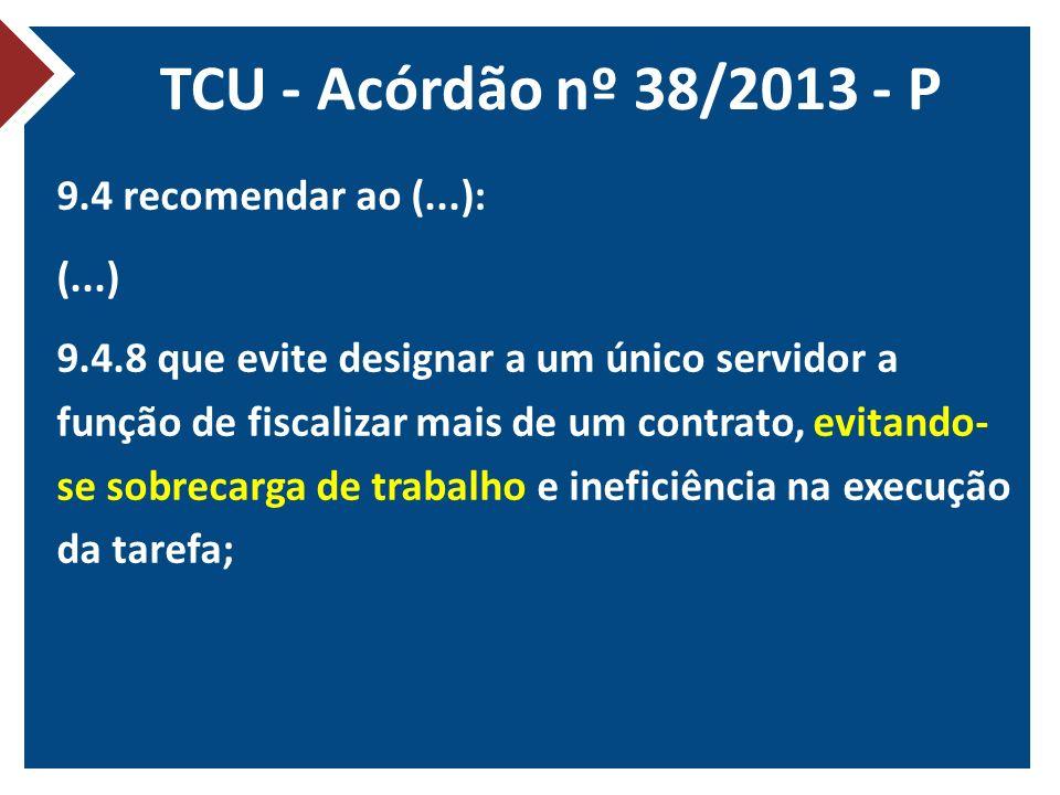 TCU - Acórdão nº 38/2013 - P
