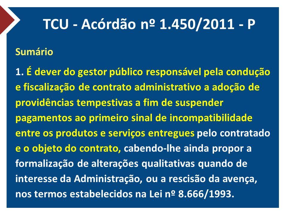 TCU - Acórdão nº 1.450/2011 - P