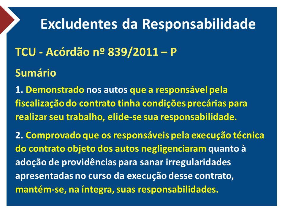Excludentes da Responsabilidade