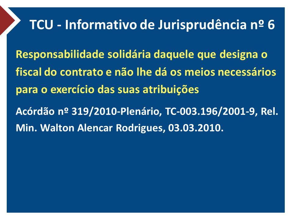 TCU - Informativo de Jurisprudência nº 6