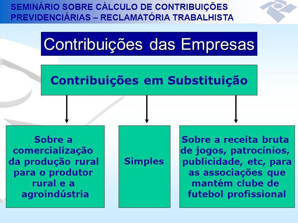 Contribuições em Substituição