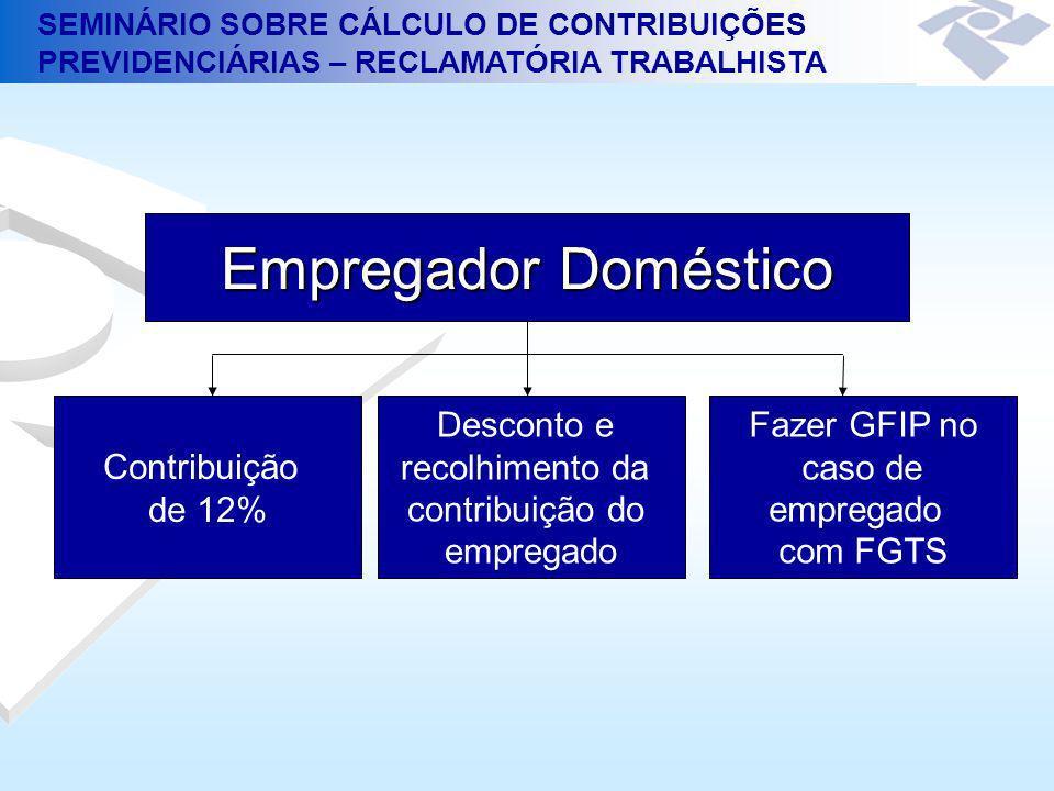 Empregador Doméstico Contribuição de 12% Desconto e recolhimento da