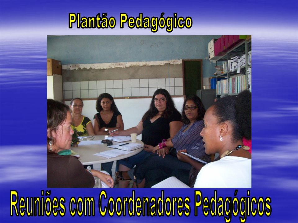 Reuniões com Coordenadores Pedagógicos