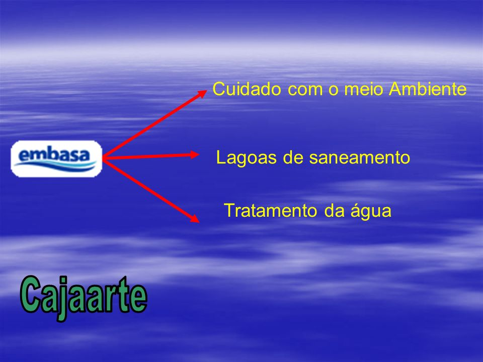 Cajaarte Embasa Cuidado com o meio Ambiente Lagoas de saneamento