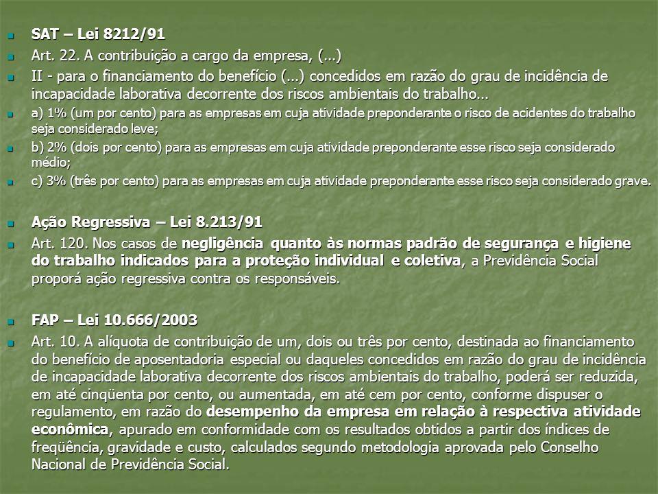 Art. 22. A contribuição a cargo da empresa, (...)