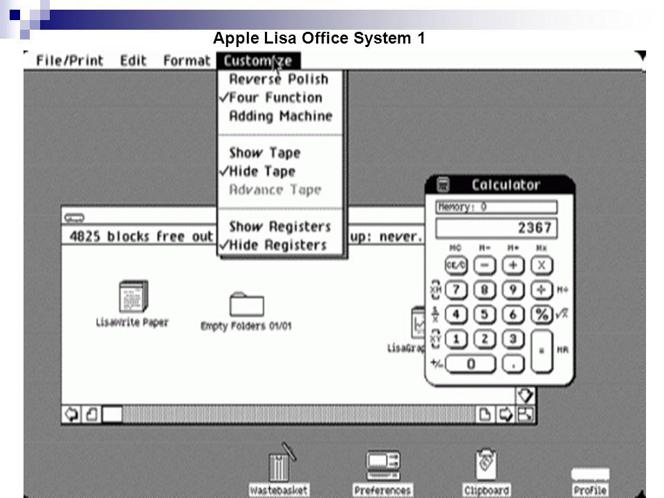 Apple Lisa Office System 1