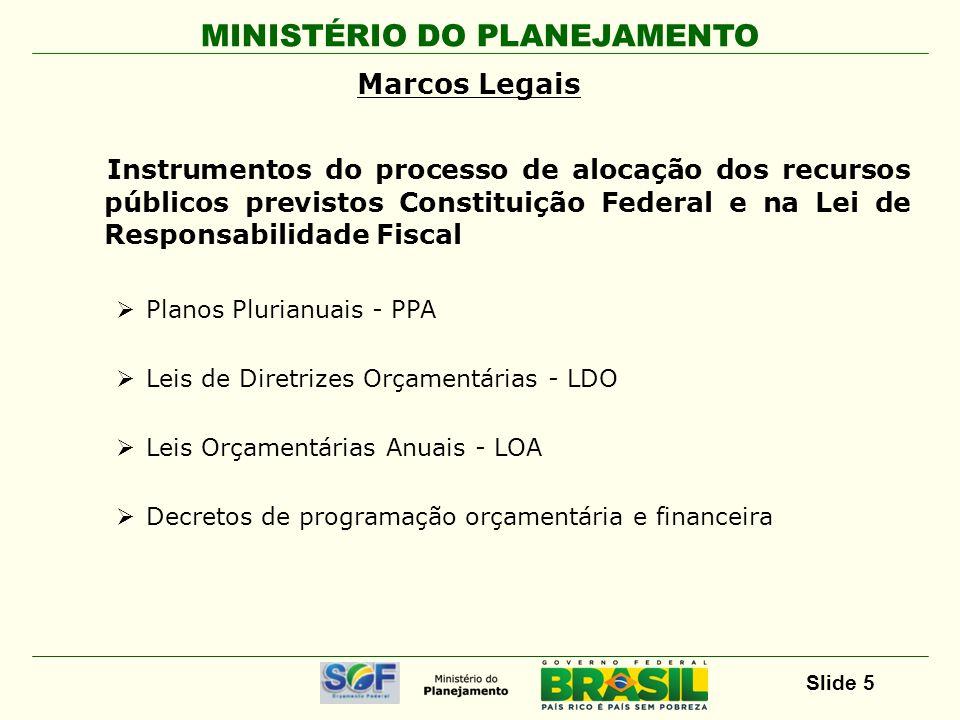 Marcos Legais Instrumentos do processo de alocação dos recursos públicos previstos Constituição Federal e na Lei de Responsabilidade Fiscal.