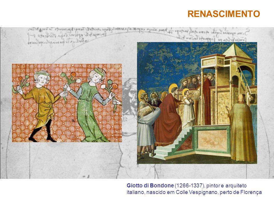 Giotto di Bondone (1266-1337), pintor e arquiteto italiano, nascido em Colle Vespignano, perto de Florença