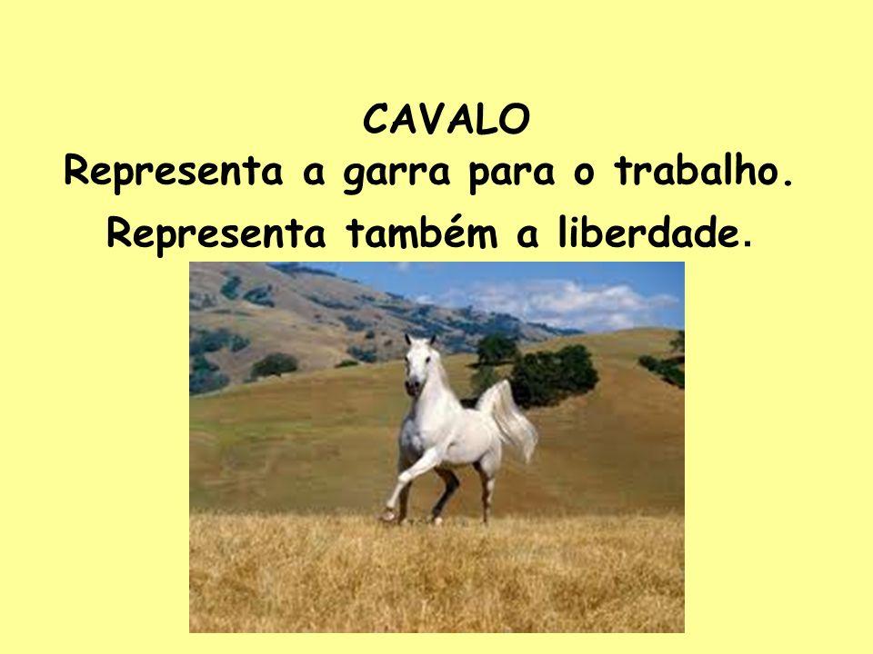 CAVALO Representa a garra para o trabalho