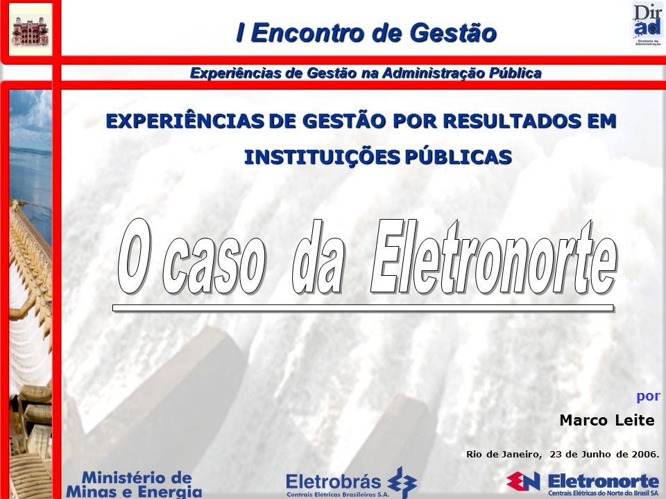 O caso da Eletronorte I Encontro de Gestão