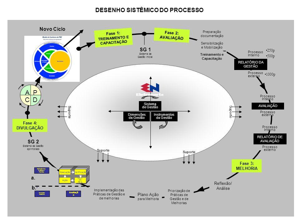 DESENHO SISTÊMICO DO PROCESSO Fase 1: TREINAMENTO E CAPACITAÇÃO
