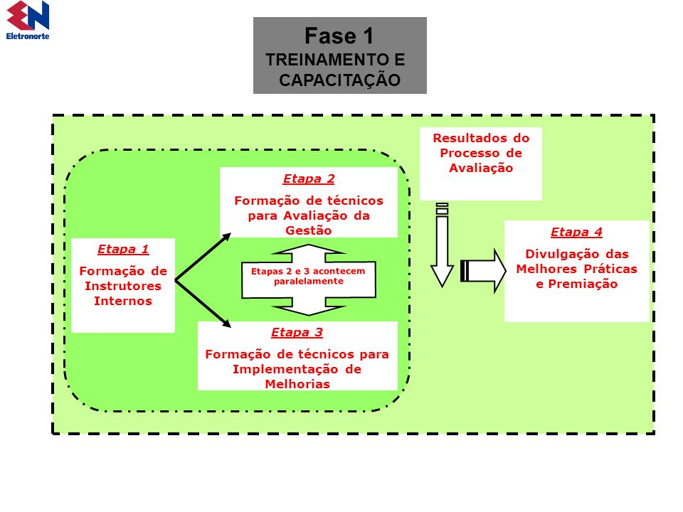 Fase 1 TREINAMENTO E CAPACITAÇÃO Resultados do Processo de Avaliação