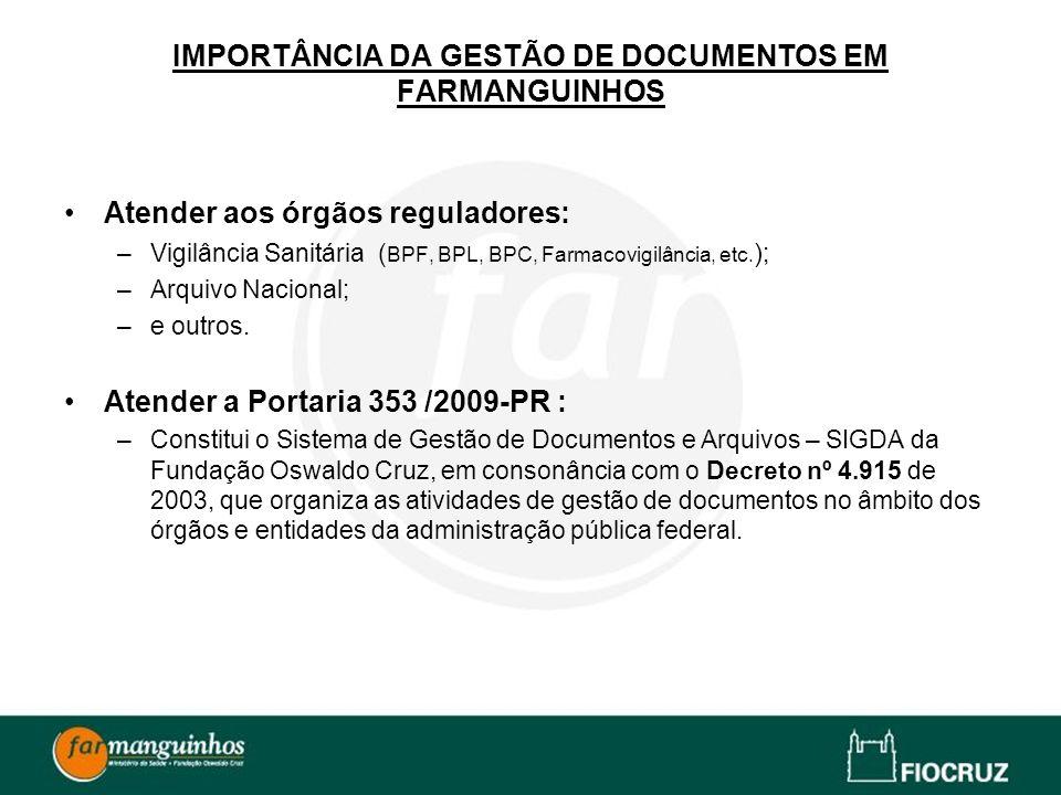 IMPORTÂNCIA DA GESTÃO DE DOCUMENTOS EM FARMANGUINHOS