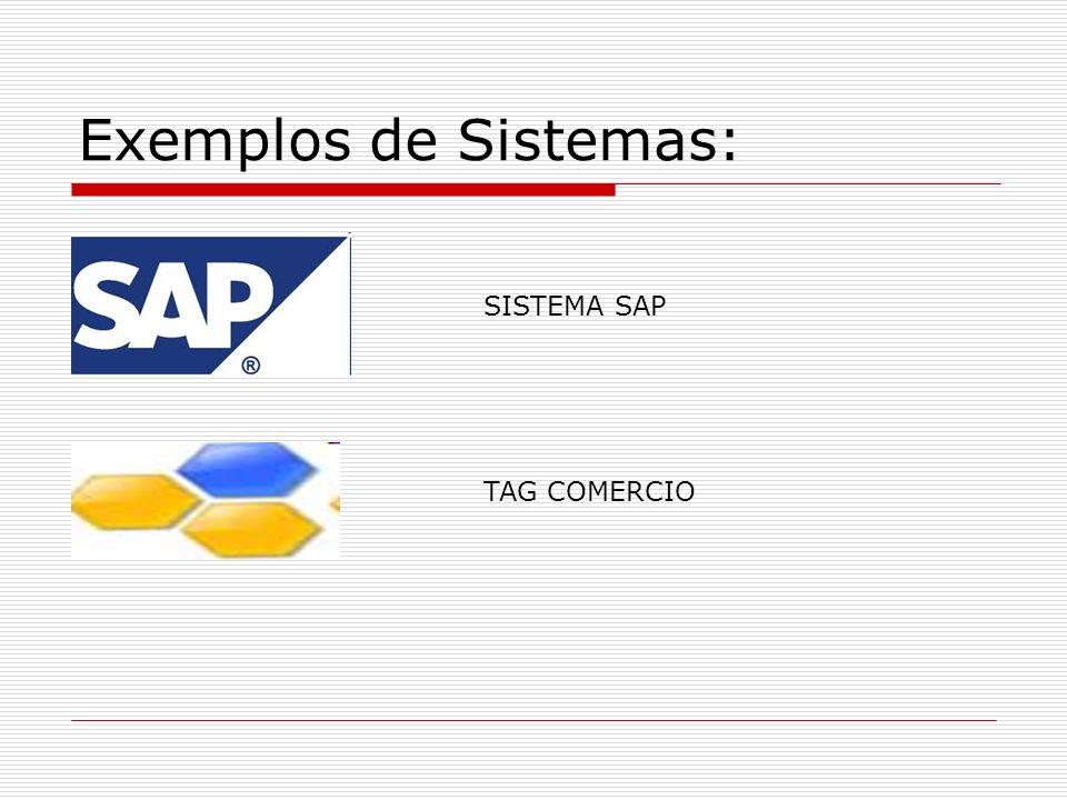Exemplos de Sistemas: SISTEMA SAP TAG COMERCIO