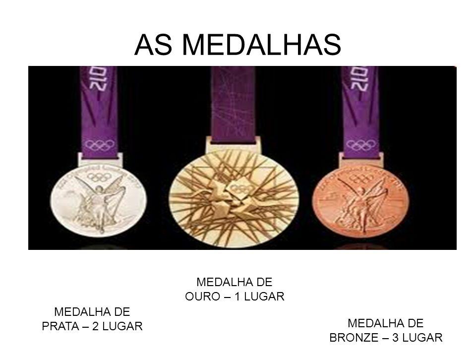 AS MEDALHAS MEDALHA DE OURO – 1 LUGAR MEDALHA DE PRATA – 2 LUGAR