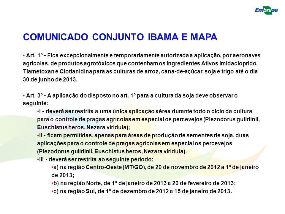 COMUNICADO CONJUNTO IBAMA E MAPA