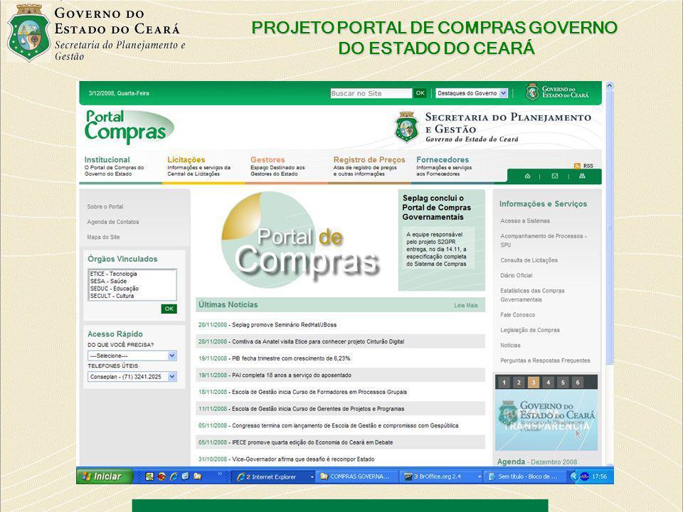 PROJETO PORTAL DE COMPRAS GOVERNO