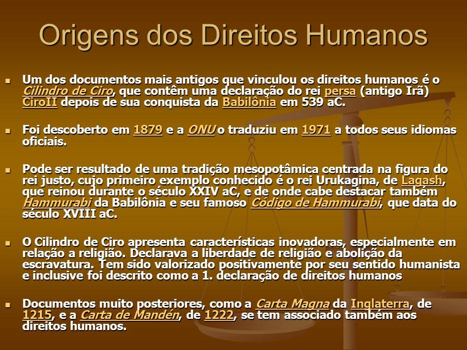 Origens dos Direitos Humanos