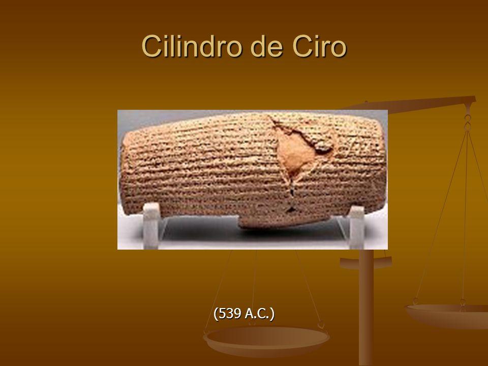 Cilindro de Ciro (539 A.C.)