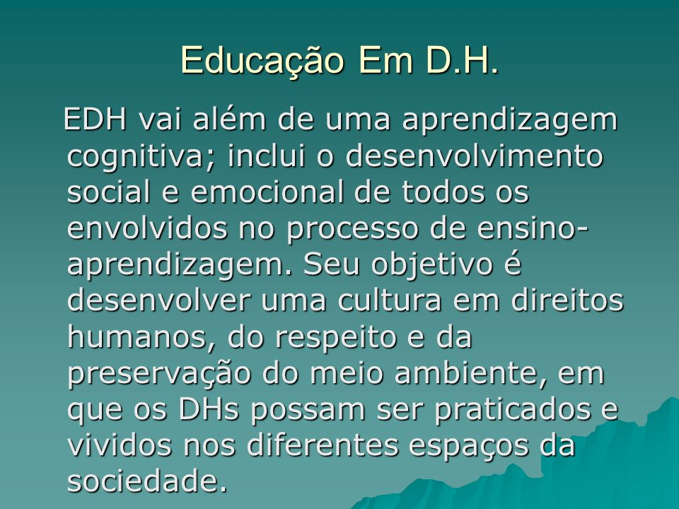 Educação Em D.H.