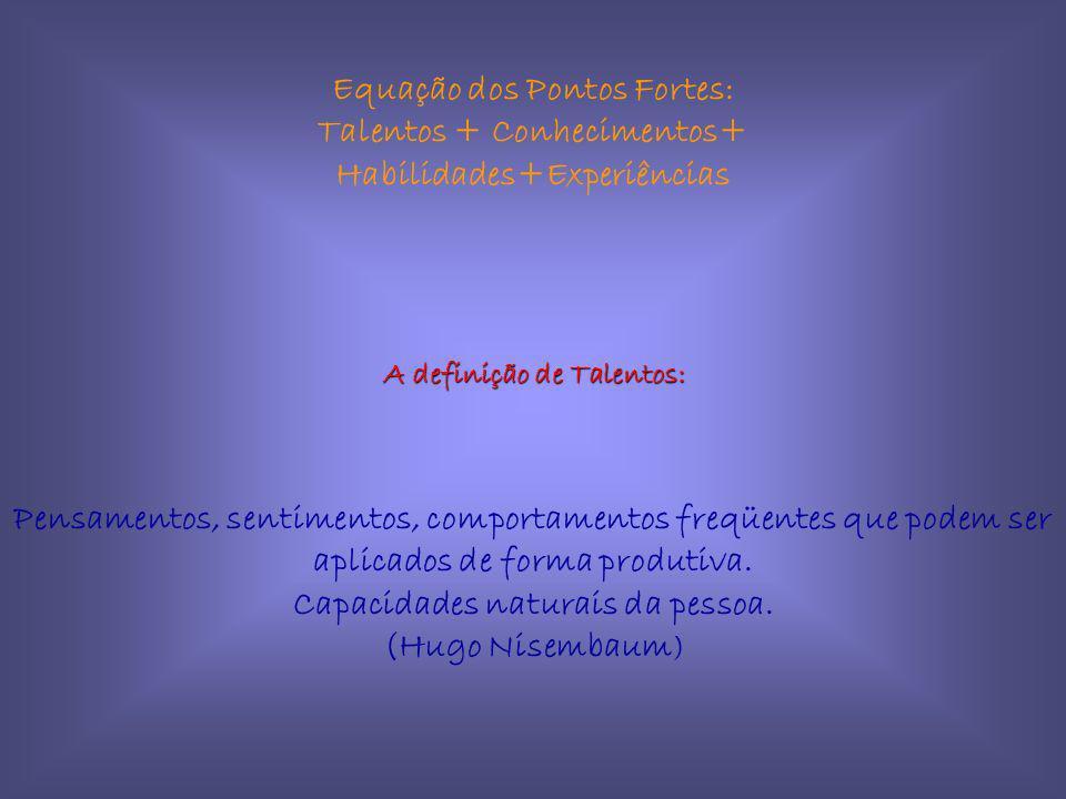 Equação dos Pontos Fortes: Talentos + Conhecimentos+