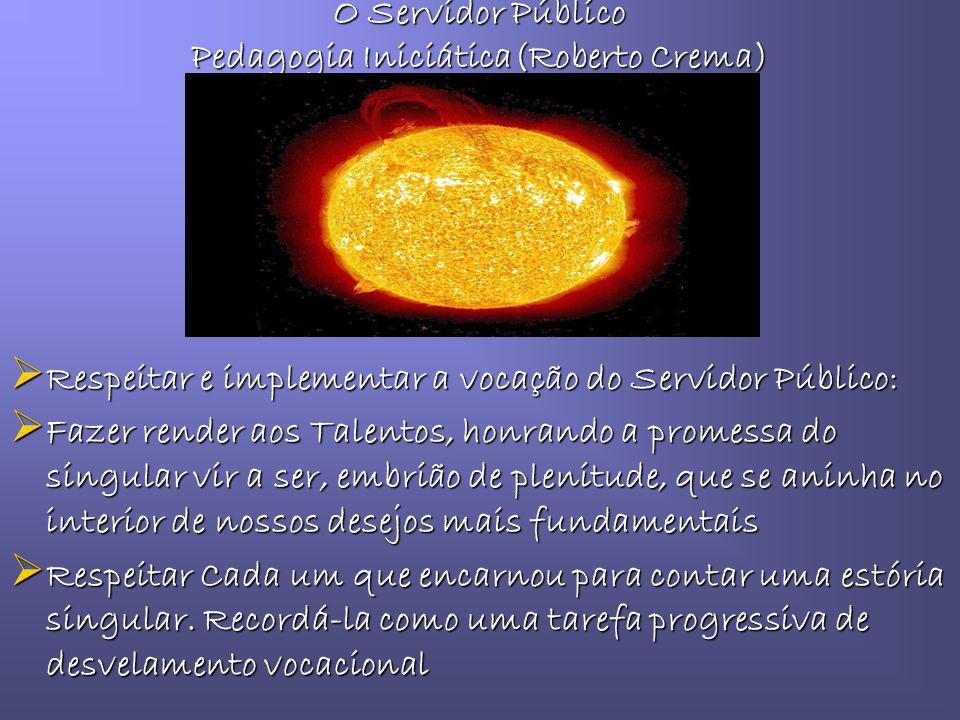 O Servidor Público Pedagogia Iniciática(Roberto Crema)
