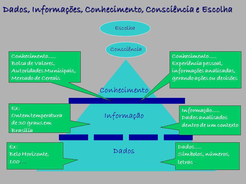 Dados, Informações, Conhecimento, Consciência e Escolha