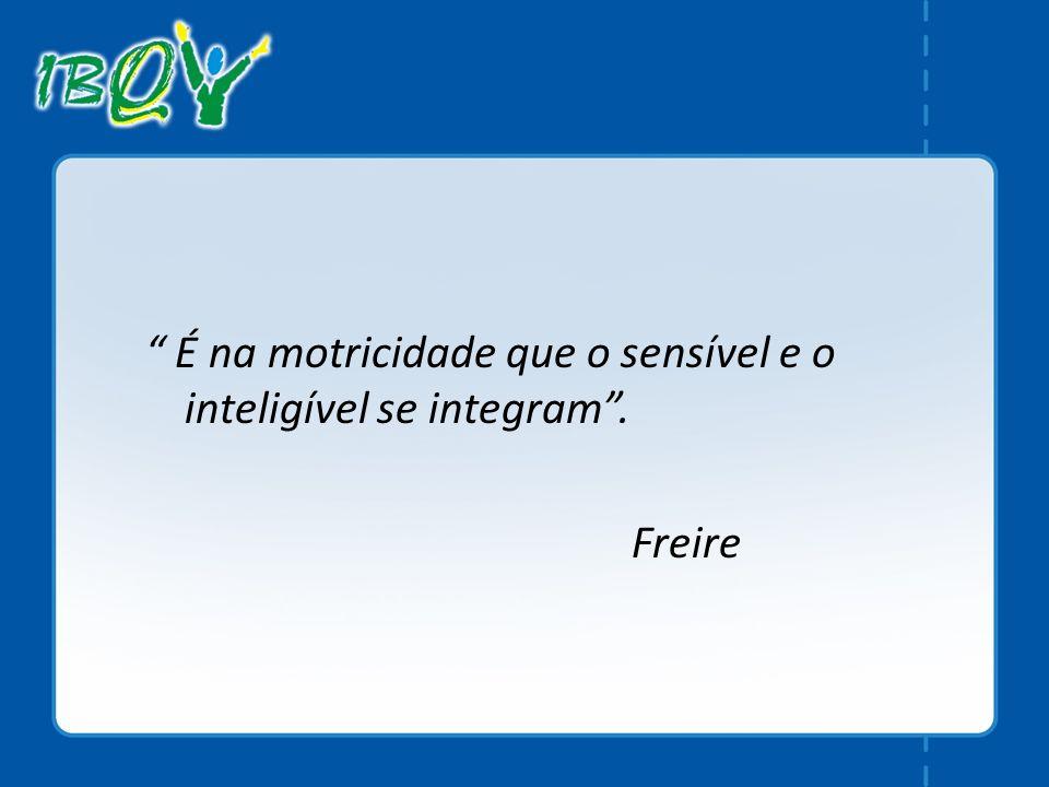 É na motricidade que o sensível e o inteligível se integram .