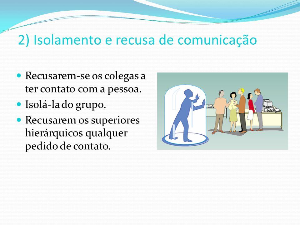 2) Isolamento e recusa de comunicação