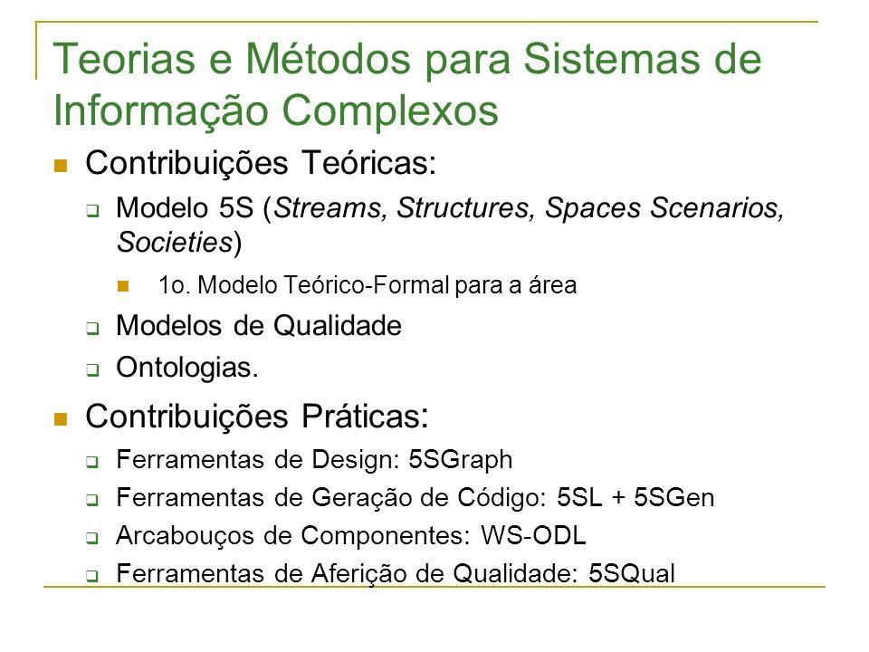 Teorias e Métodos para Sistemas de Informação Complexos