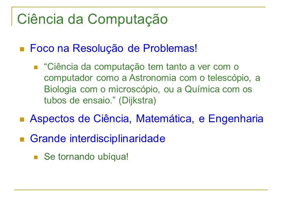 Ciência da Computação Foco na Resolução de Problemas!