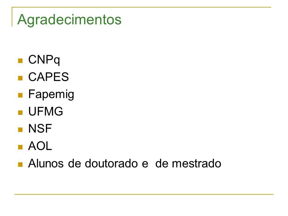 Agradecimentos CNPq CAPES Fapemig UFMG NSF AOL