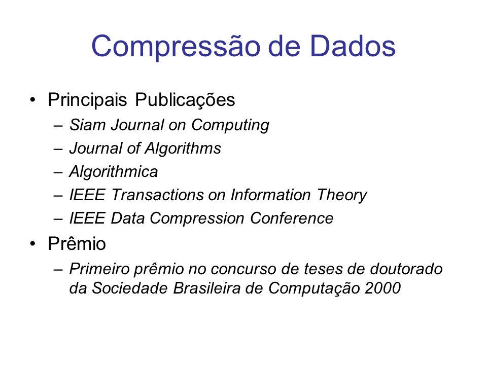 Compressão de Dados Principais Publicações Prêmio