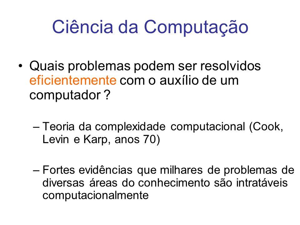 Ciência da Computação Quais problemas podem ser resolvidos eficientemente com o auxílio de um computador
