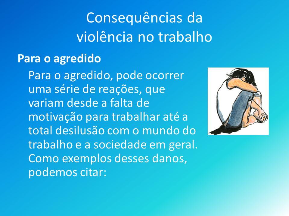 Consequências da violência no trabalho
