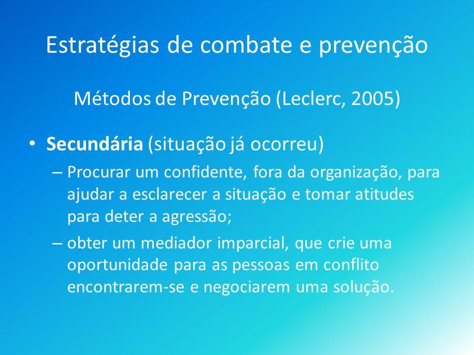 Estratégias de combate e prevenção