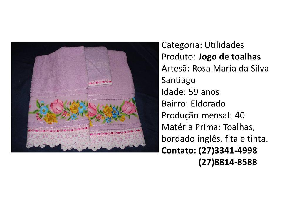 Categoria: Utilidades Produto: Jogo de toalhas