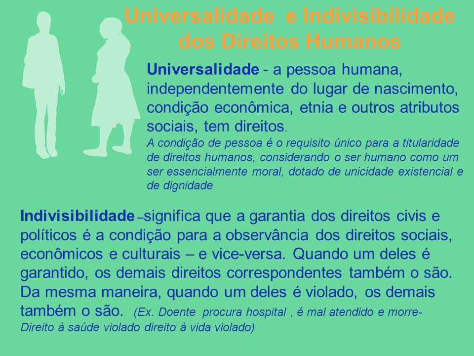 Universalidade e Indivisibilidade dos Direitos Humanos