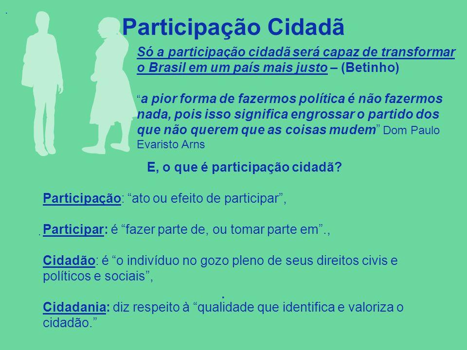 E, o que é participação cidadã