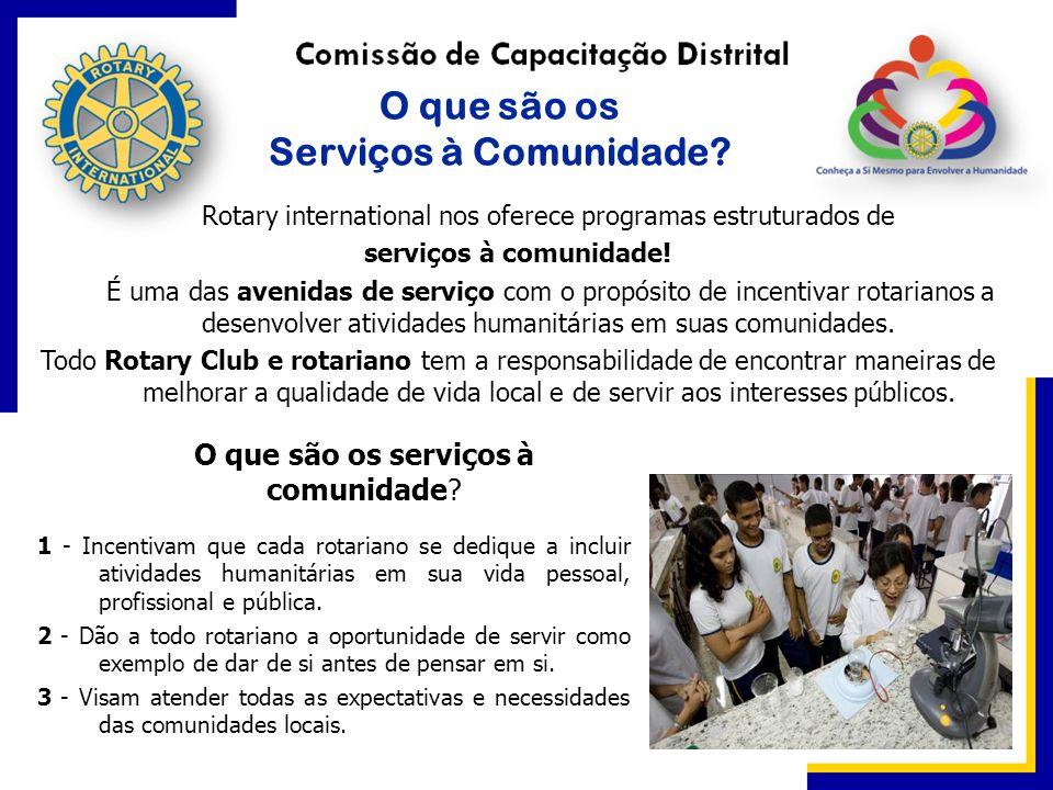 O que são os Serviços à Comunidade