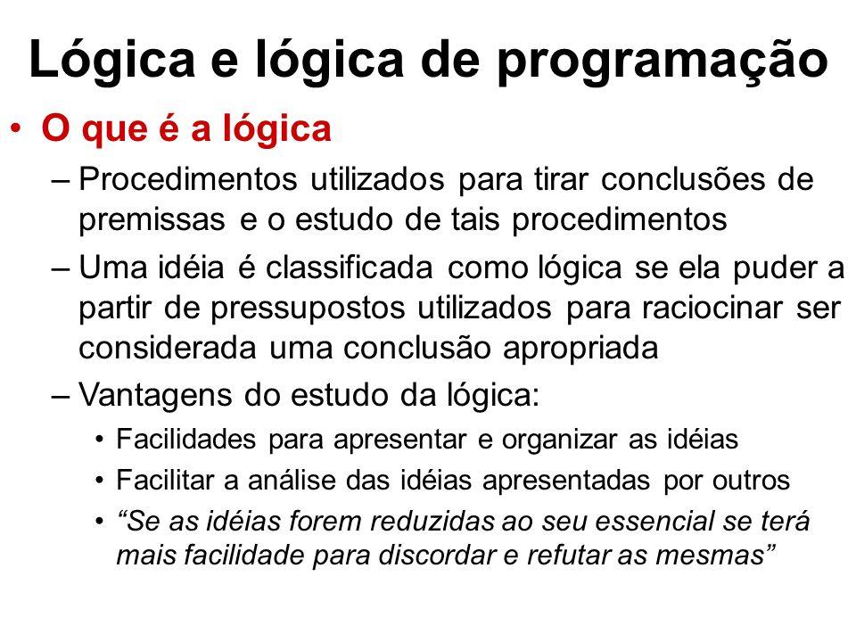 Lógica e lógica de programação