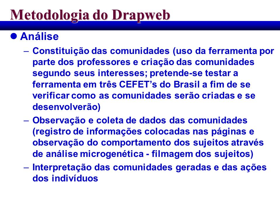 Metodologia do Drapweb