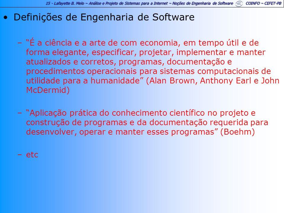 Definições de Engenharia de Software