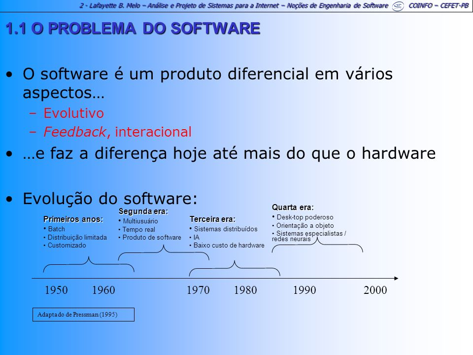 O software é um produto diferencial em vários aspectos…