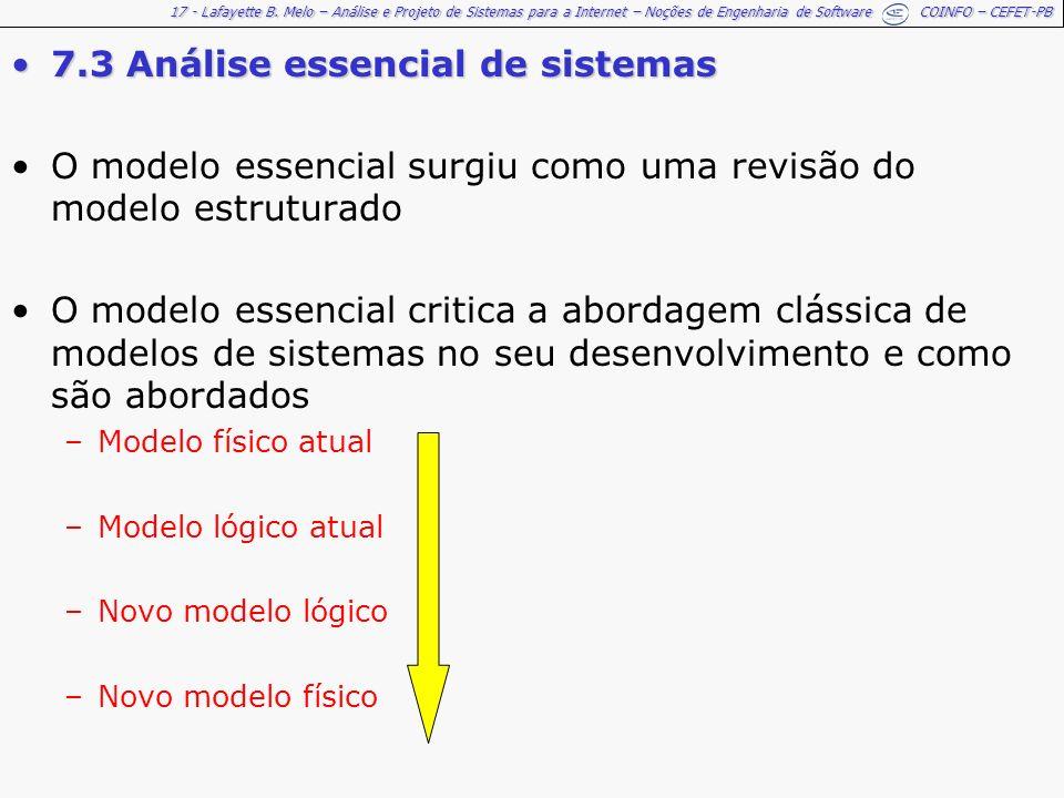 7.3 Análise essencial de sistemas