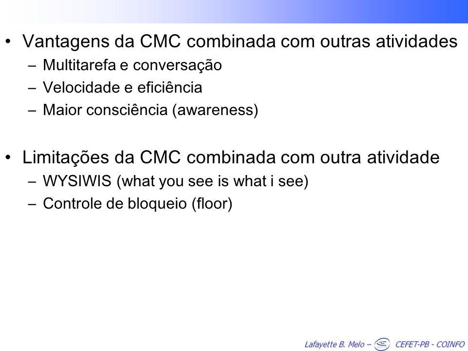 Vantagens da CMC combinada com outras atividades