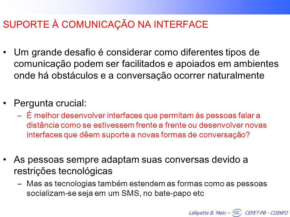 SUPORTE À COMUNICAÇÃO NA INTERFACE