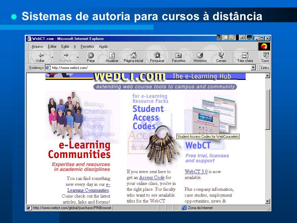 Sistemas de autoria para cursos à distância